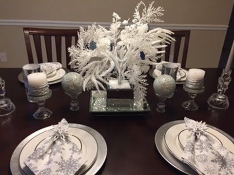 Superbe Holiday Table Decorating(in Silver, White U0026 Rhinestone)   YouTube