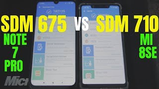 Redmi Note 7 Pro SDM 675 Vs MI 8SE SDM 710 in Hindi India
