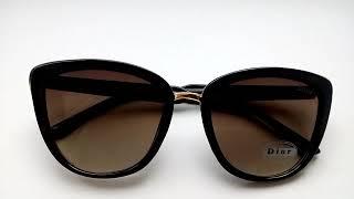 Солнцезащитные очки, Dior, лисички, кошачьи глазки