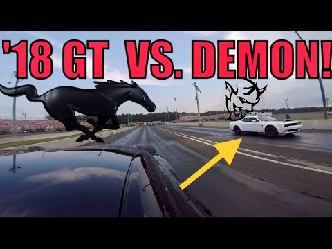 Dodge DEMON vs  Ford MUSTANG GT! WATCH till the End...