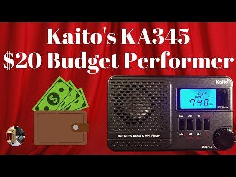 Kaito KA345 AM FM Stereo SW & MP3 Radio Review