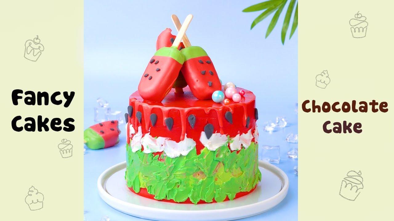 So Yummy Watermelon Cake Decorating Ideas #shorts