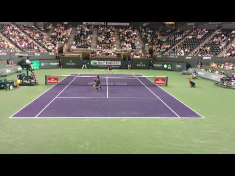 Murray vs Pospisil Indian Wells 2017 Courtside Highlights