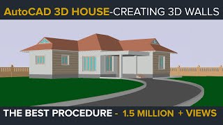 AUTOCAD 3D HOUSE PART1 - MAKING 3D WALLS