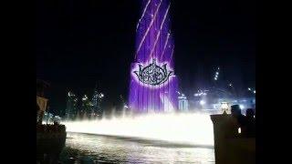 Dubai burj khalifa musical fountain