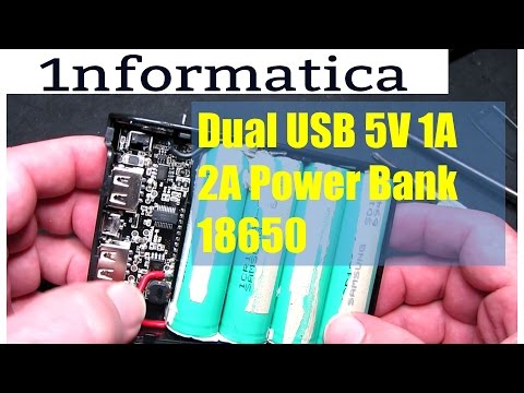 Dual Usb 5v 1a 2a Power Bank 18650 Diy Electronic Project With