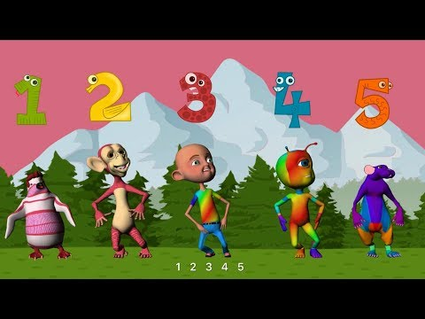 Lagu Anak - 5 Anak Bermain - Belajar Berhitung Sederhana - Mengenal Angka