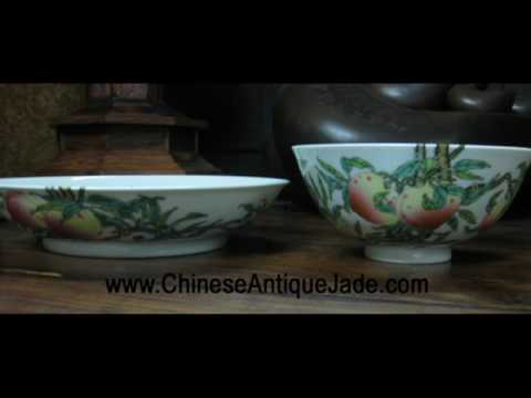 Chinese Antique Qing Dynasty Yong Zheng Porcelain Dish and Plate