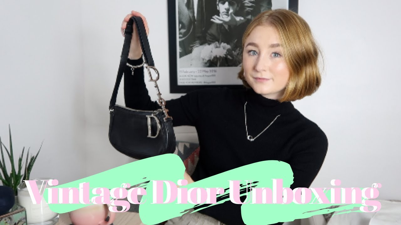 VINTAGE DIOR BAG UNBOXING!   using Vestiaire Collective  ea681f7ed5a2b