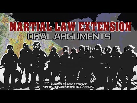 Martial Law Extension Cases Oral Arguments - January 16, 2018