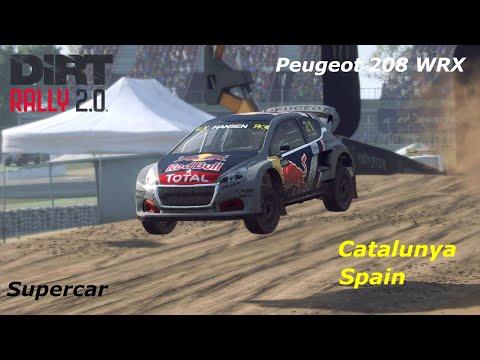 Dirt Rally 2.0 Rallycross -  Catalunya, Spain - Peugeot 208 WRX - AI Difficulty Hard - Bonnet View