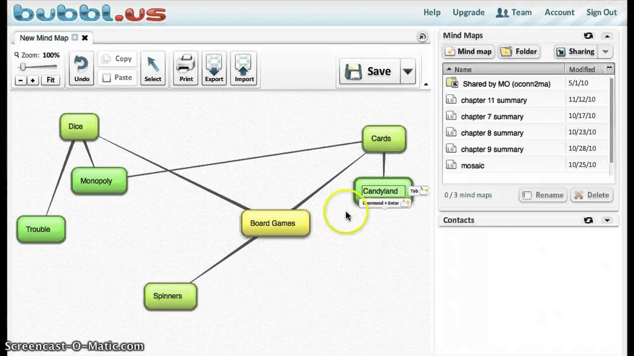 How To Use Bubblus YouTube - Branson bubbl us concept map