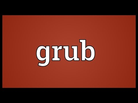 Grub Meaning