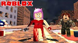 Roblox- CUIDADO COM A VI DO VESTIDO VERMELHO (Survive The Red Dress Girl)