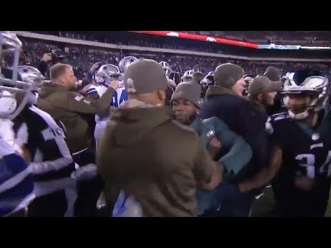 See Eagles & Cowboys Players SEPARATED After HUGE FIGHT Before Kickoff!