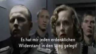 The Downfall (Der Untergang) famous bunker scene with GERMAN SUBTITLES
