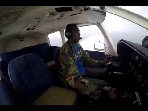 Moustapha Solo flight in a Piper PA28