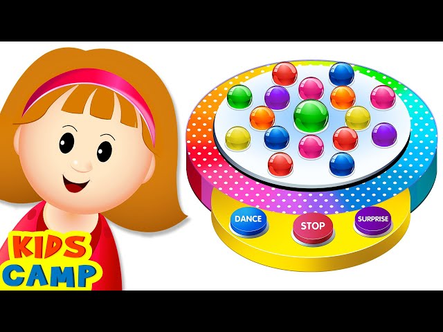 NEW Learn Colors With Surprise Dancing Balls On Finger Family Song With Elly by KidsCamp