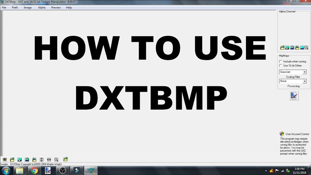 How to use DXTBMP