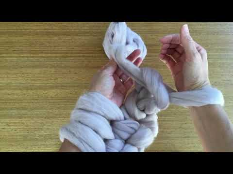 ARM KNITTING ~ HOW TO PURL STITCH