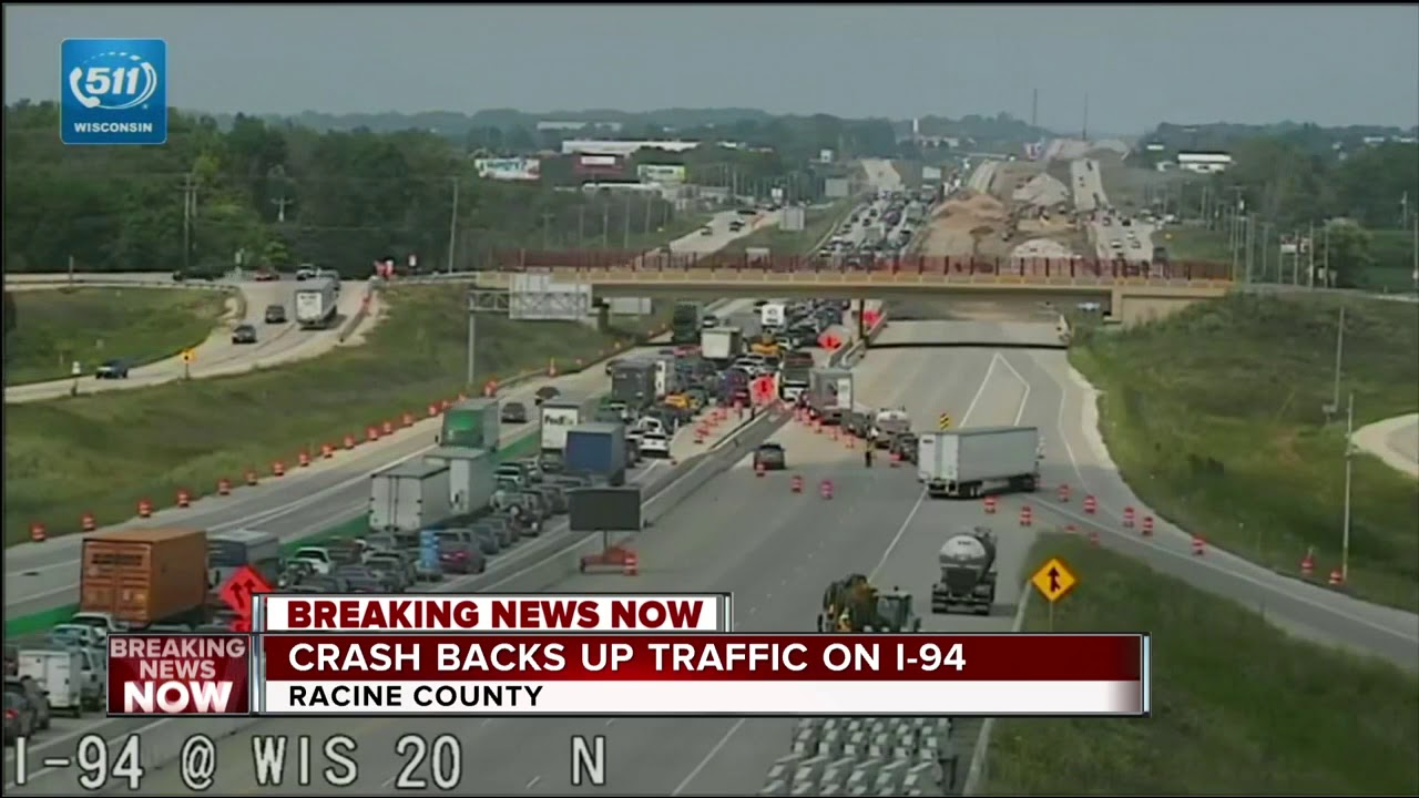 Multi-vehicle accident shuts down I-41/94 NB for more than 2 hours