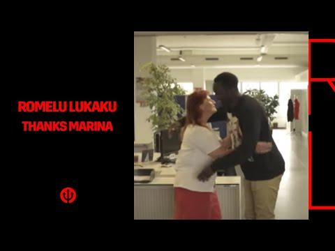 Romelu Lukaku bedankt Marina!