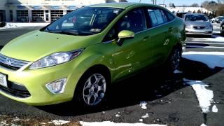 2013 Ford Fiesta 4 Door Sedan Titanium Lime Squeeze