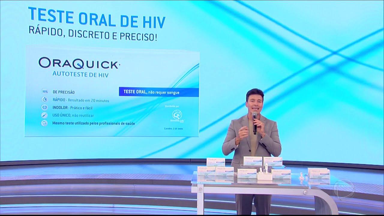 Rodrigo Faro mostra como funciona autoteste oral de HIV