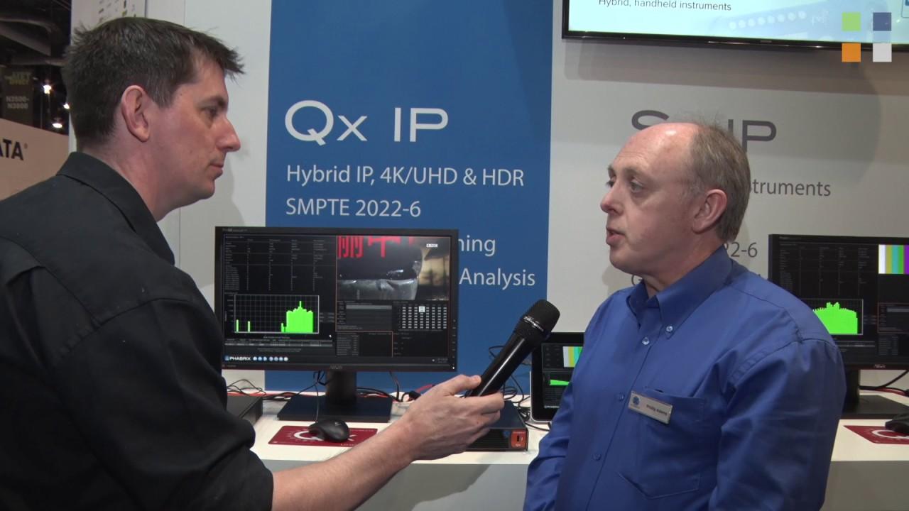 IP, 5G-SDI + HDR generation, analysis and monitoring from Phabrix