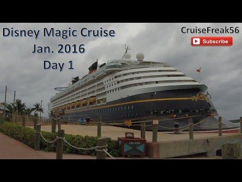 Disney Magic Cruise | Jan  2016 Day 1