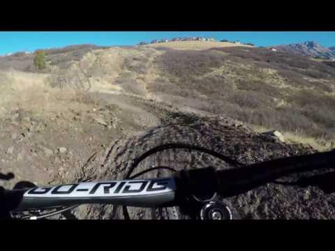 Mountain Biking Vertigo Downhill Flow Trail in Corner Canyon, Draper, Utah