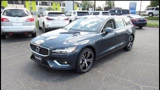 2019 Volvo V60 Inscription T6 AWD Walkaround, Start up, Tour and Overview