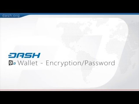 Dash: QT Wallet Encryption = G15E12