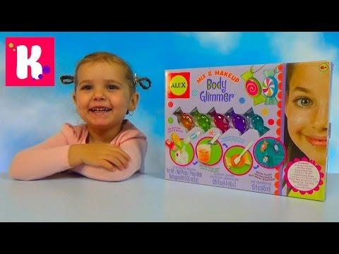 Блеск для тела набор для изготовления распаковка Body Glimmer unboxing set toy