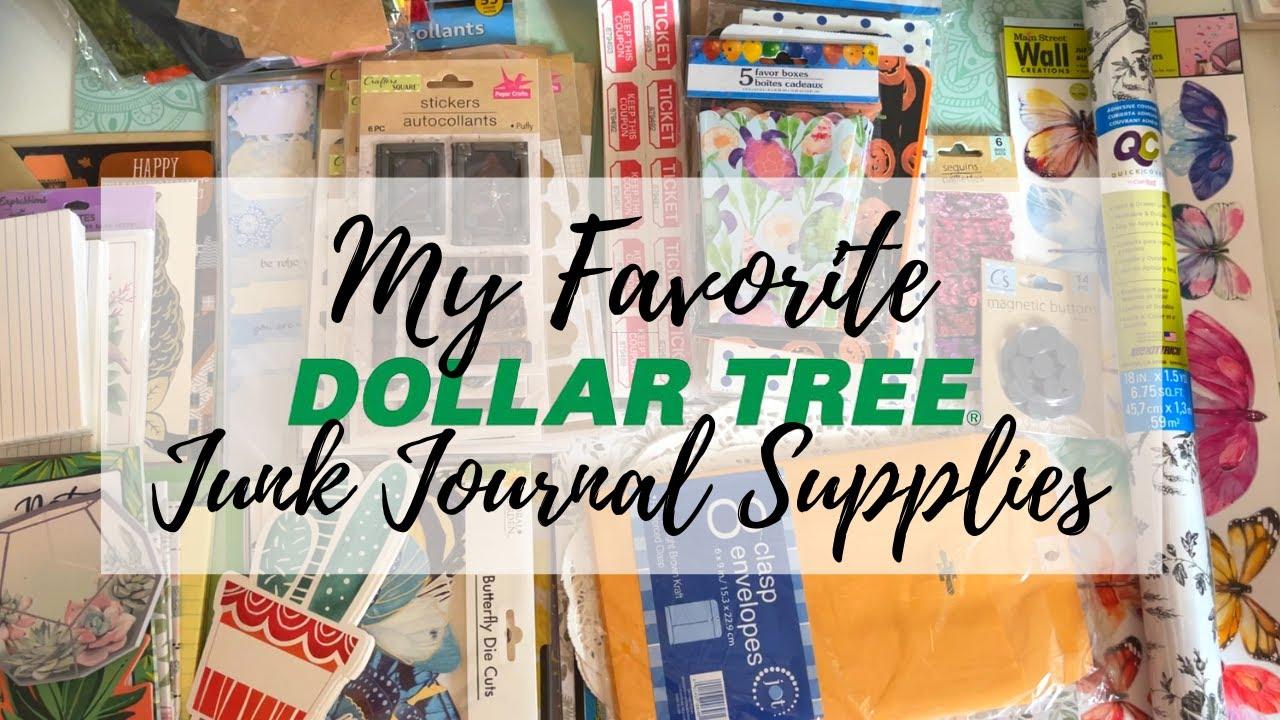 MY FAVORITE DOLLAR TREE JUNK JOURNAL SUPPLIES