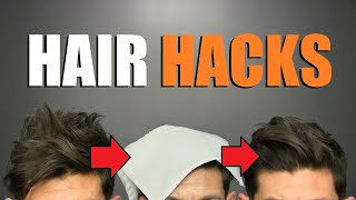 5 TIME SAVING Hair Hacks EVERY Guy Should Know!