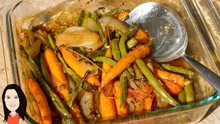 Oven Roasted Garden Vegetables With Instant Sauce!