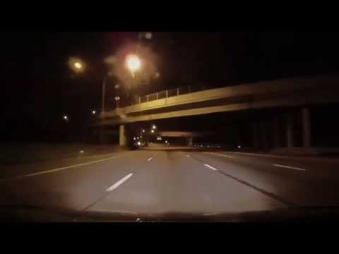 Driving in and Around Cleveland Hopkins Airport at Night