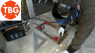 Welding Up A Drill Press Stand With My Flux Core Welder From Harbor Freight
