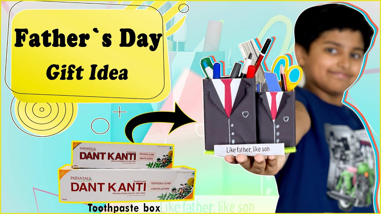 Amazing Father's Day Gift Idea - Father Son Pen Stand | Easy Best Out of Waste DIY Craft Idea