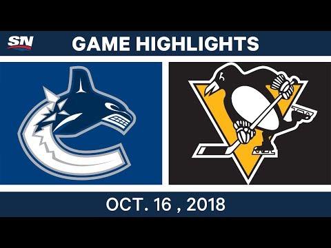 NHL Highlights   Canucks vs. Penguins - Oct. 16, 2018