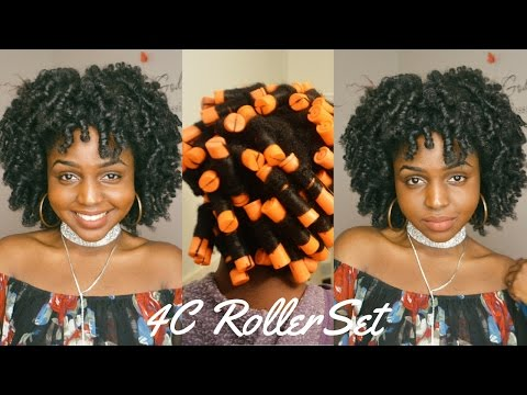 PERM ROD ROLLER SET ON 4C NATURAL HAIR