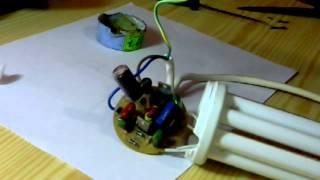 Ремонт энергосберегающей лампы (repair of energy-saving lamps)№2(Ремонт энергосберегающей лампы (repair of energy-saving lamps)№2 Ремонт электрической схемы (Repairs to the electrical circuit)check transistor..., 2014-10-23T14:22:02.000Z)