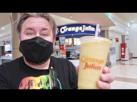 One of The Last Orange Julius Stands in Southern California - Food Review At Empty Westminster Mall