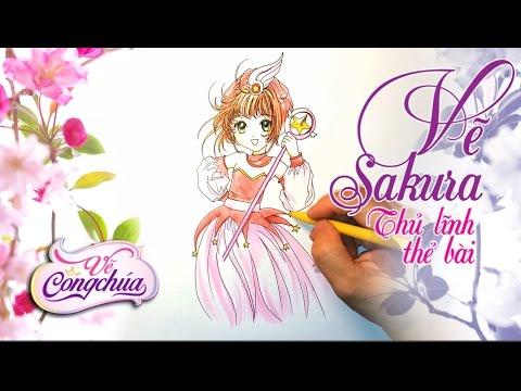 Vẽ Sakura Kinomoto Card Captor - Speed Draw Sakura Kinomoto Cardcaptor Sakura