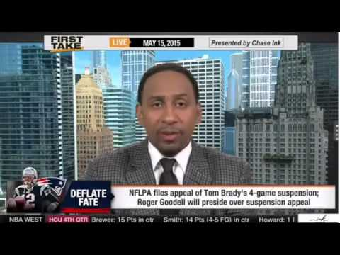 ESPN First Take Roger Goodell to Preside Over Tom Brady's Appeal of Deflategate Suspension