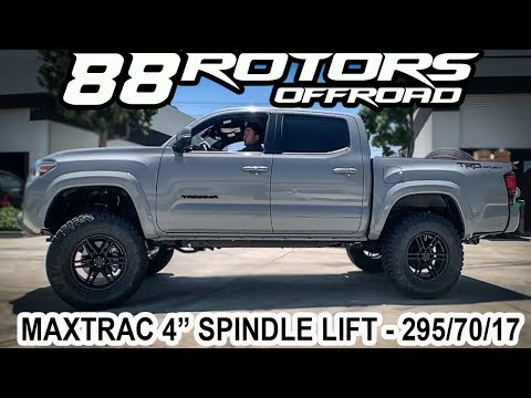 """2019 Toyota Tacoma Prerunner MaxTrac 4"""" Lift Spindle & 295/70/17 Tires!"""