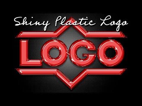 Photoshop: How To Create Shiny Plastic Text And Graphics.