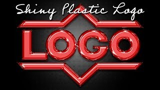 Photoshop: How to Cręate Shiny Plastic Text and Graphics.