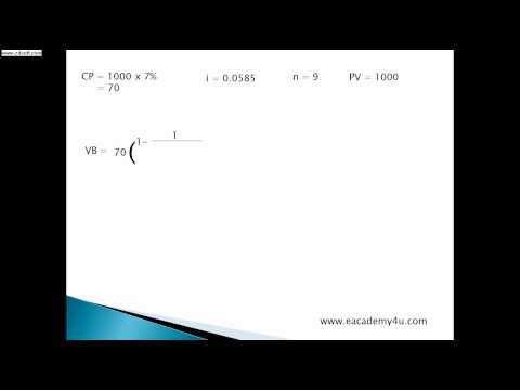 How to calculate Value of Bond, Finance